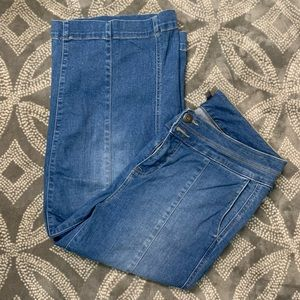 Torrid crop high rise wide leg jeans 14